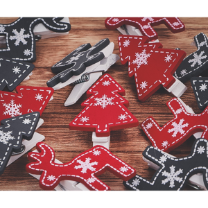12965 - SENZA Garland with photo clips Black